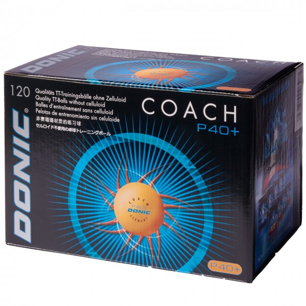DONIC Coach P40+ ** Cell-Free 120er, weiß u orange